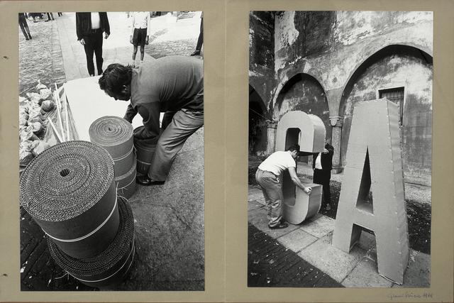 , 'Carabinieri_Cartellina1,' 1968, Galleria Giovanni Bonelli