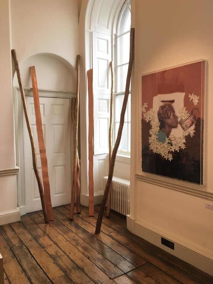 VOICE gallery 1:54 Contemporary African Art Fair Booth E10 - East Wing  Somerset House  M'Barek Bouhchichi - Imdiazen #4, 2018  Owanto - Feeding my ancestor - Coffee, 2018