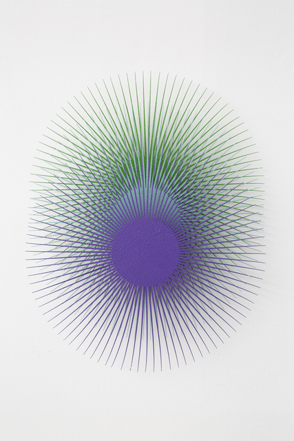, 'Burst Star (Purple, Aqua, Green),' 2018, Eleven Twenty Projects