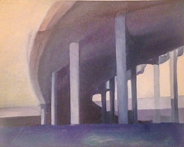 Laura Broaddus Hexner, 'Overpass', 2014, Painting, Acrylic on board, Cross Contemporary Partners