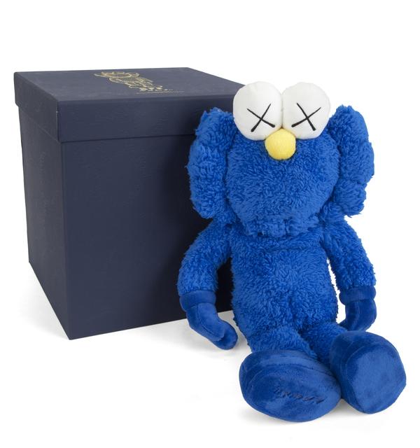 KAWS, 'BFF (Blue)', 2016, Sculpture, Stuffed plush figure, Julien's Auctions