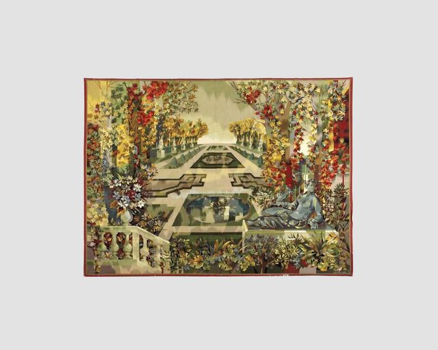 ", '""Jardin à la Française"" A monumental Aubusson Tapestry Designed by Camille Hilaire (1916-2004) and executed by  Atelier Pinton Frères, Aubusson,' , Maison Gerard"