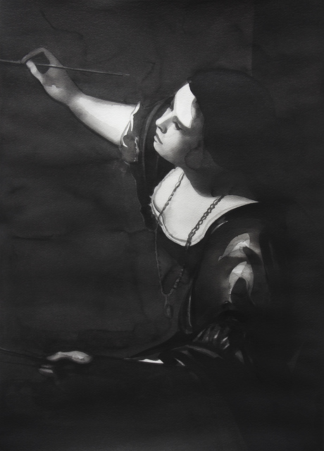 ", 'Artemisia Gentileschi, from the series ""Female Heroes"",' 2016, PRISKA PASQUER"