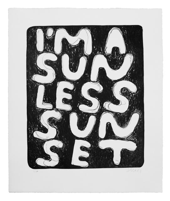 Stefan Marx, 'I'm a Sunless Sunset', 2020, Print, Lithograph on Zerkall Alt Cleve white, matt, 225g/qm, Ruttkowski;68