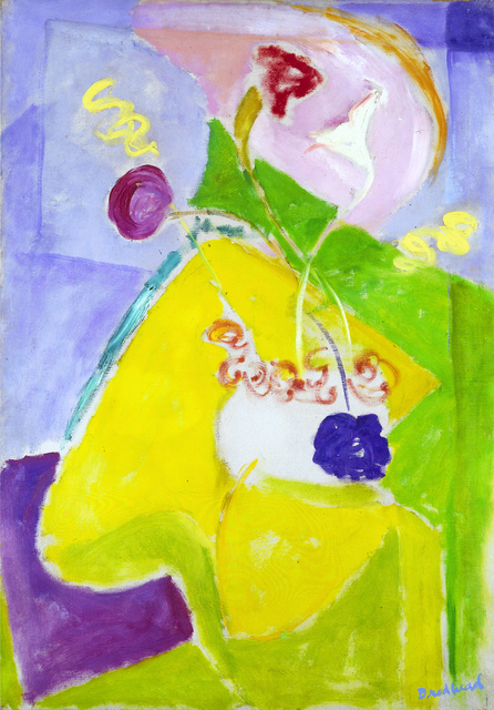 , 'Abstract Form with Yellow and Pink,' circa 1950s, Hollis Taggart