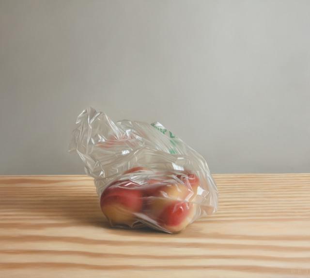 Dan Jackson, 'Peach Bag', 2015, Painting, Oil on panel, Dolby Chadwick Gallery