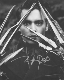 Johnny Depp Signed Edward Scissorhands Print