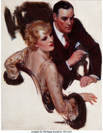 Romantic Coversation, The Saturday Evening Post interior illustration