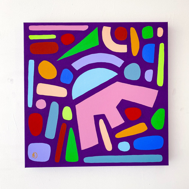 Julia Deckman, 'Berry on Top', 2020, Painting, Flashe on canvas, Miller Gallery Charleston