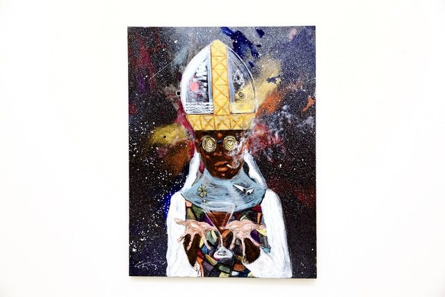 , 'Chocolate Martini Cosmic Black Pope,' 2017, ABXY