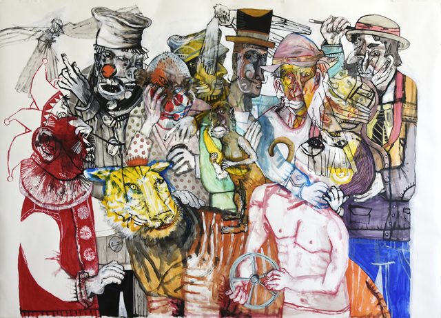 , 'He thinks he can handle the Circus,' 2018, Galerie Claire Corcia