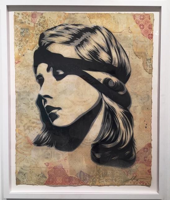 Shepard Fairey, 'Debby Destiny', 2016, Mixed Media, Mixed Media (Stencil, Silkscreen und Collage) on Paper, Galerie Ernst Hilger