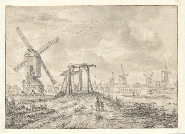 , 'View of the Amstel Bridge (Hogesluis),' 1663, Rijksmuseum