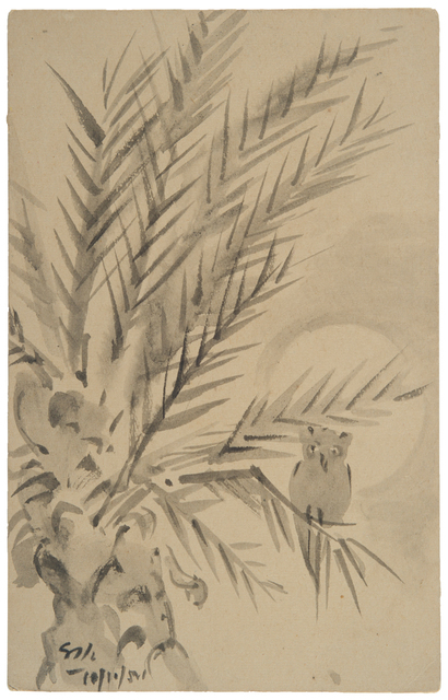 , 'UNTITLED	(Owl on Tree),' 1954, Prinseps