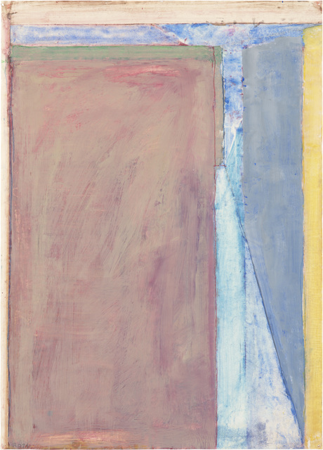 Richard Diebenkorn, 'Untitled (Ocean Park)', 1971, Drawing, Collage or other Work on Paper, Watercolor, acrylic, crayon, and charcoal on paper, Richard Diebenkorn Foundation