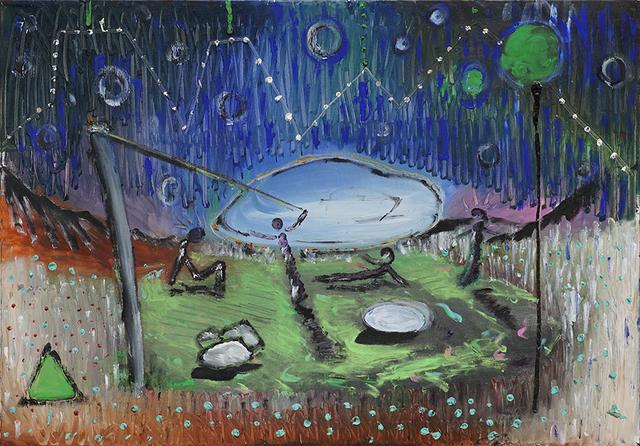 Alessandro Santoro, 'Lo sbarco dei marziani / The landing of Martians', n.d., Maroncelli 12