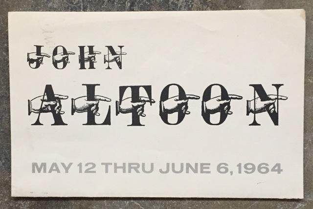 , 'Exhibition Mailer,' 1964, Kwiat Art