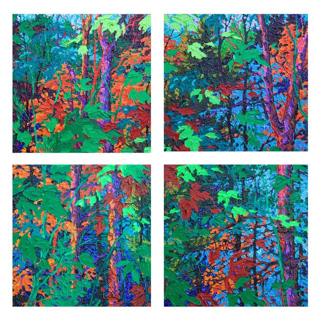 Frank Balaam, 'Aladdin's Forest III, IV, V, VI', 2017, Ventana Fine Art