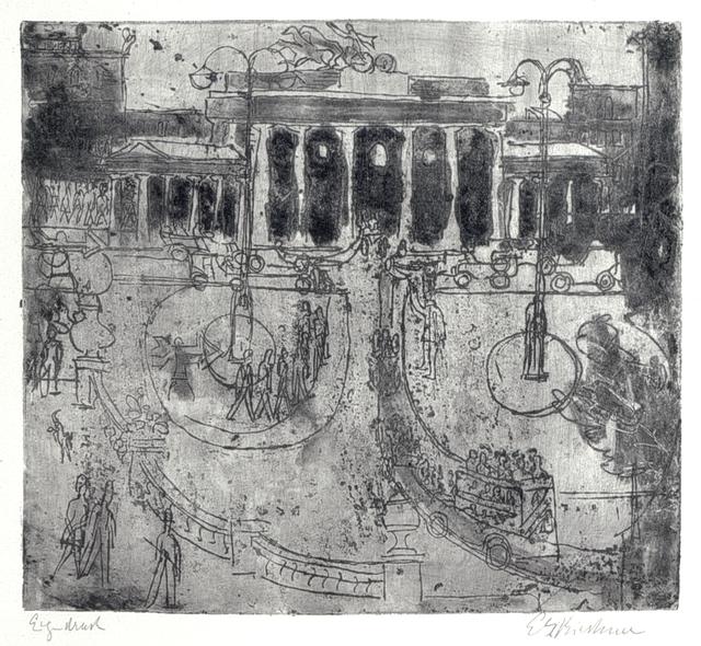 Ernst Ludwig Kirchner, 'Brandenburger Tor, Berlin', 1929, Henze & Ketterer