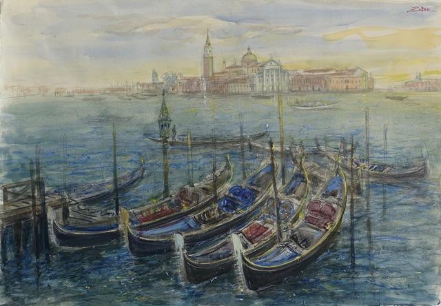 , 'Seven Gondolas, View to San Giorgio,' 2017, Galerie d'Orsay