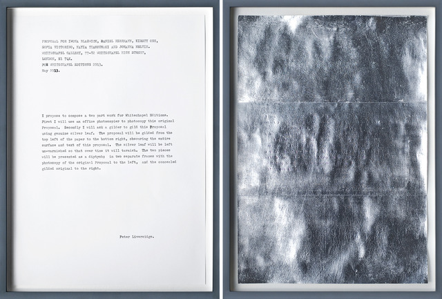 , 'Proposal for the Whitechapel Editions (Framed),' 2013, Whitechapel Gallery