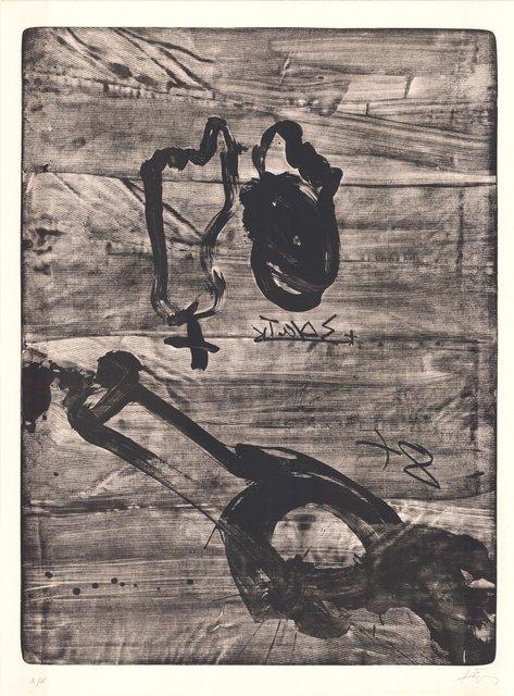 Antoni Tàpies, 'Improvisations en blanc i negre VI', 1980-1990, ARTEDIO