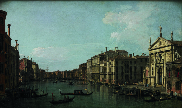 , 'The Grand Canal, Venice, Looking South-East from San Stae to the Fabbriche Nuove di Rialto,' 1738, Seattle Art Museum