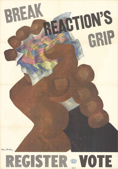 Ben Shahn, 'Break Reaction's Grip, Register Vote', 1946, Posters, Offset Lithograph, ArtWise