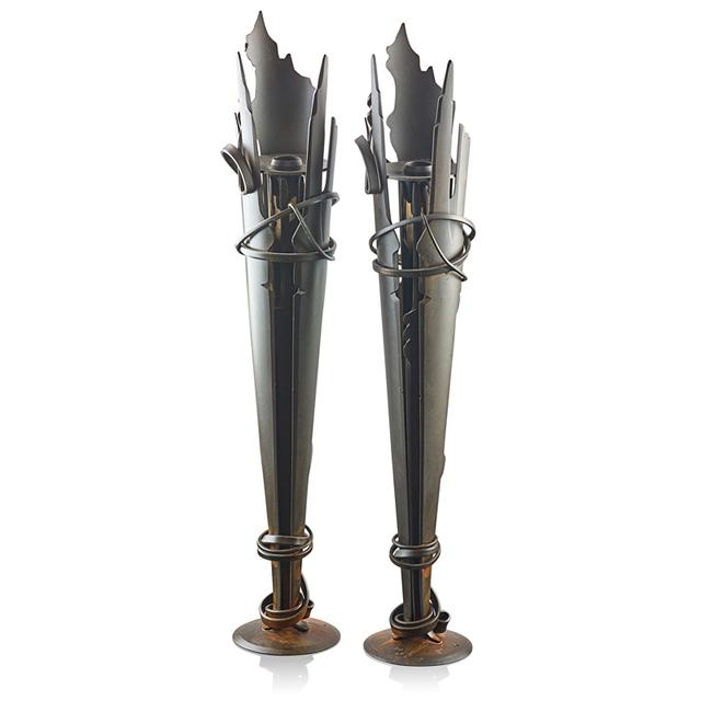 Albert Paley, 'Pair of Vulcan candlesticks, Rochester, NY', 1994, Rago