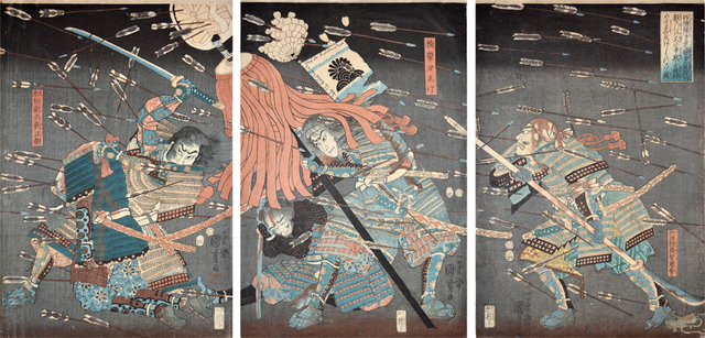 , 'Last Stand of Kusunoki Clan at Shijo-Nawate,' 1857, Ronin Gallery