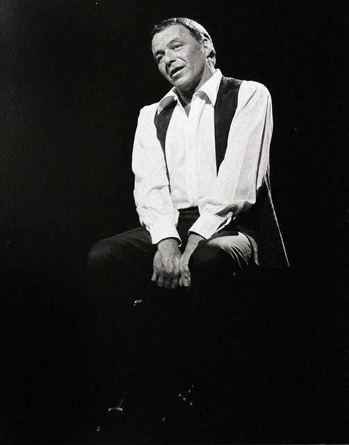 , 'Sinatra performing at his Budweiser special at N.B.C. TV in 1968,' 1968, Robert Berman Gallery