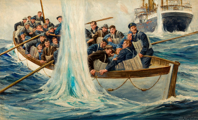Anton Otto Fischer, 'Life Boat at Sea', 1941, The Illustrated Gallery