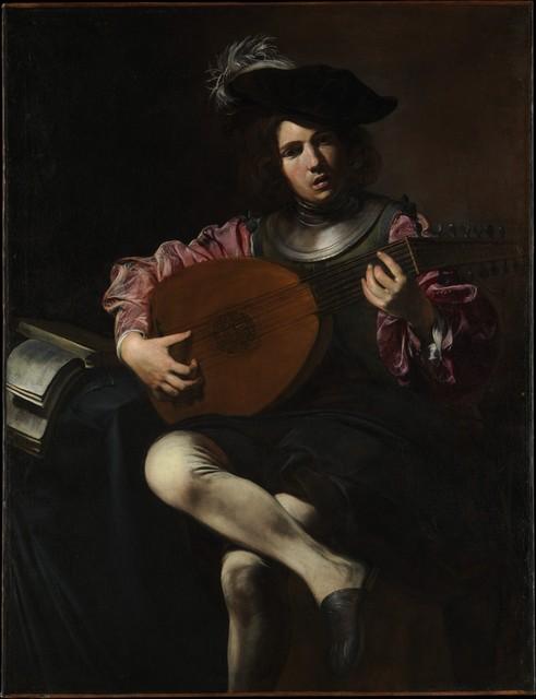 Valentin de Boulogne, 'Lute Player', ca. 1625–1626, The Metropolitan Museum of Art