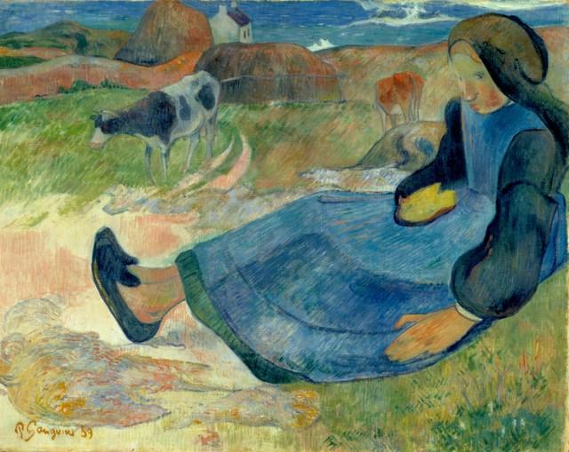 Paul Gauguin, 'Breton Girl', 1889, de Young Museum