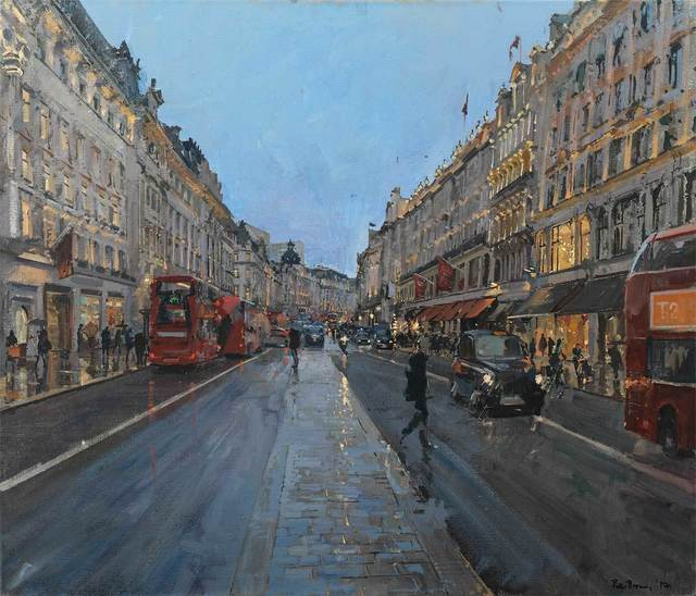 , 'Regent St in Winter,' , Mall Galleries