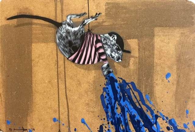 , 'Rat painting Blue,' 2018, NextStreet Gallery