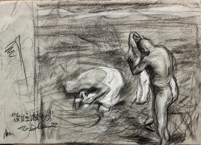 "Pei Zhuangxin, 'Sketch for "" Kangrinboqê"" 油畫《岡仁波次》⼿稿', 2013, W.Ming Art"