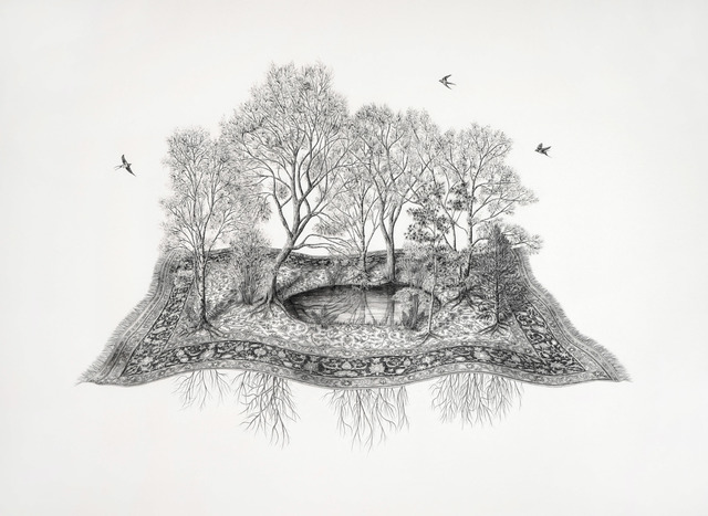 , 'Le motif de mes rêves (racine-miroir),' 2018, Galerie D'Este