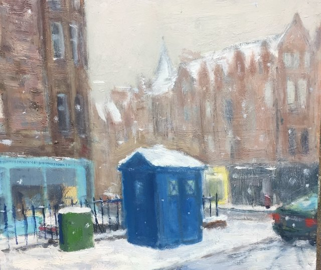 , 'Police Box In The Snow,' , Tatha Gallery