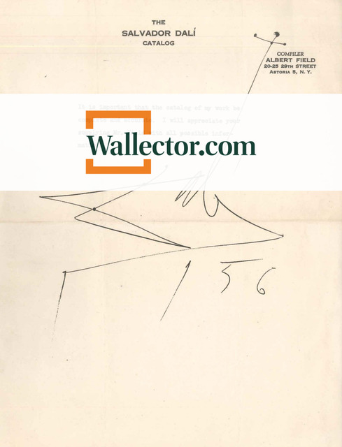 , 'Interesting letter by S. Dalì to A. Field,' 1956, Wallector