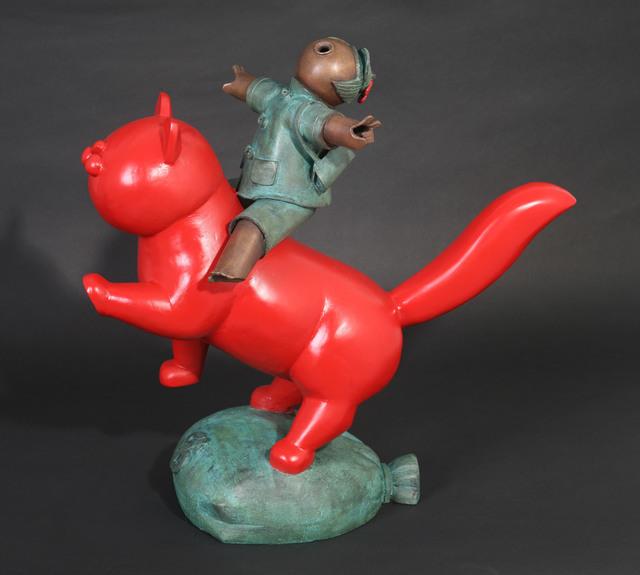 , '中国红猫 6; Chinese Red Cat 6,' 2013, Linda Gallery