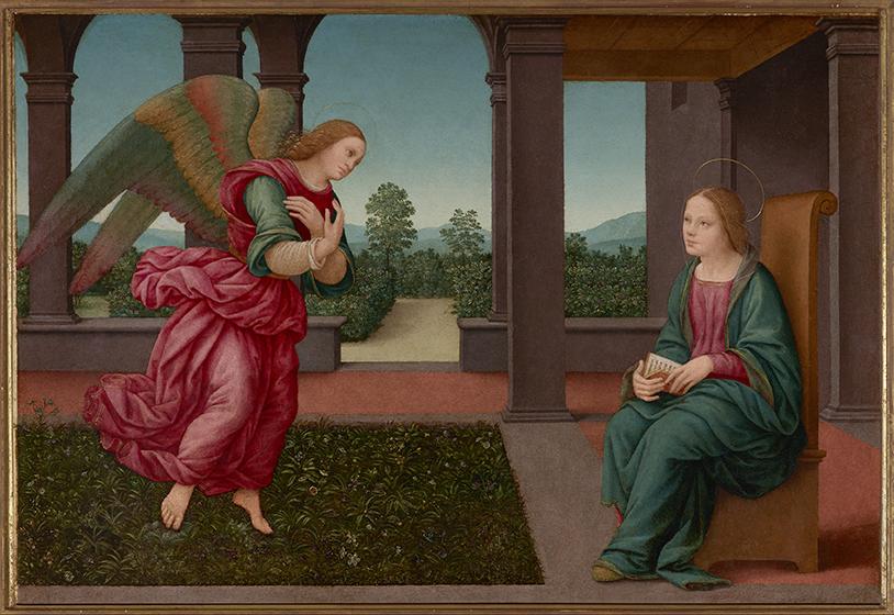 The Annunciation Lorenzo di Credi ca. 1500 Oil on panel