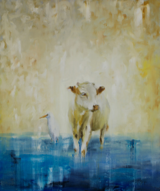 , 'Cow and Egret,' 2016, Abend Gallery