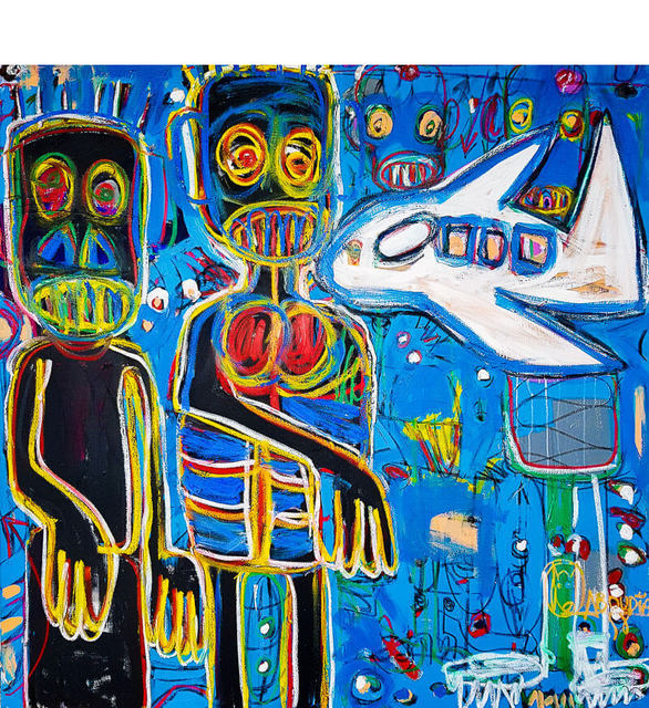 Aboudia, 'L'Aventurier II', 2018, Painting, Acrylic and oil pastels on canvas, Out of Africa Gallery