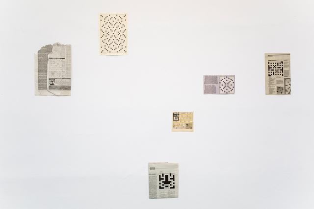 """, 'La Serie """"Quick Crossword Collection"""",' 2016, Casa Nova Arte e Cultura Contemporanea"""