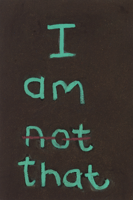 , 'I am not that,' 2017, Stevenson