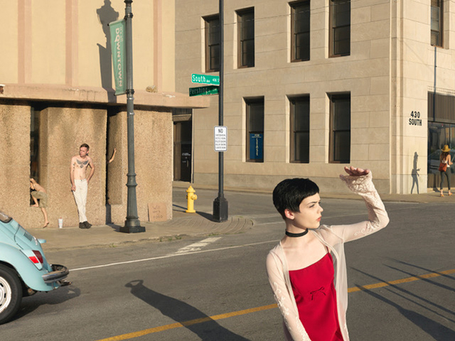 Julie Blackmon, 'South & Pershing St.', 2017, Photography, Archival pigment print, Robert Mann Gallery