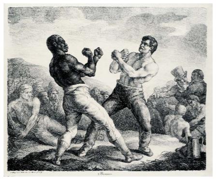 , 'Boxeurs (Boxers). ,' 1818, August Laube Buch & Kunstantiquariat