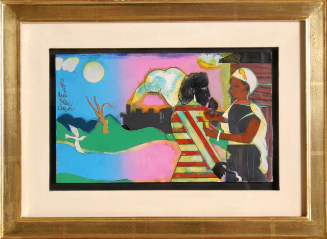 Romare Bearden, 'Memories #2', 1981, Drawing, Collage or other Work on Paper, Ink, Dye Paint & Collage, RoGallery