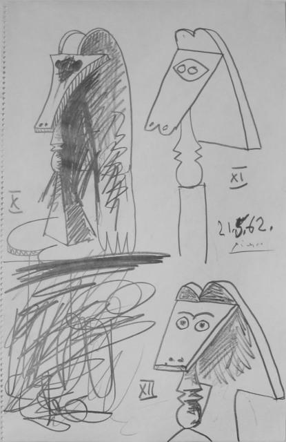 Pablo Picasso, 'Trois bustes de femmes (Three Female Busts)', 1962, R. S. Johnson Fine Art